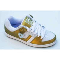 Chaussures Femme Baskets basses Osiris Tron White Gold Blanc