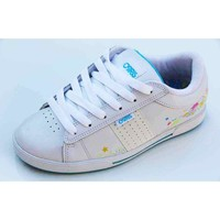 Chaussures Femme Baskets basses Osiris Baskets Femme Volley White Multi Star Sketch Blanc