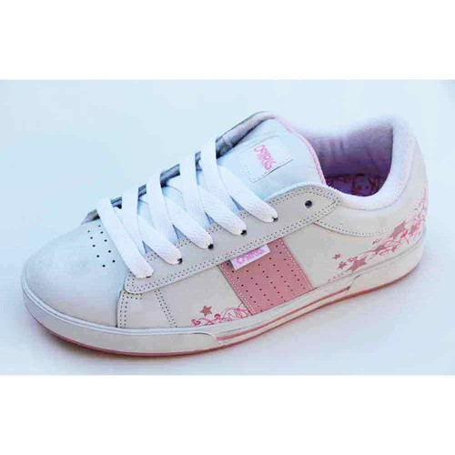 Osiris Baskets Femme  Volley White Pink Star Sketch Blanc - Chaussures Baskets basses Femme