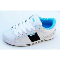 Chaussures Femme Baskets basses Osiris Baskets Femme Volley White Vines Cyan Blanc