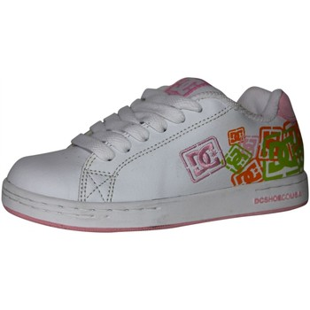 Chaussures Fille Baskets basses DC Shoes samples shoes DC CHARACTER WHITE PINK KIDS / ENFANTS Blanc