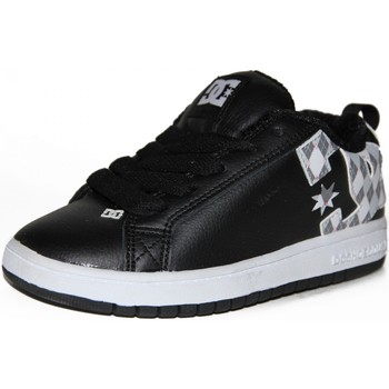 Chaussures Garçon Baskets basses DC Shoes samples shoes DC COURT GRAPHIK BLACK ARMOR ARGYLE KIDS / ENFANTS Noir