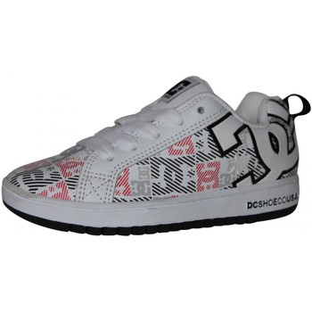Chaussures Garçon Baskets basses DC Shoes samples shoes DC COURT GRAPHIK SE WHITE BLACK PRINT KIDS / ENFAN Multicolore