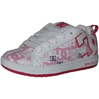 Chaussures Fille Baskets basses DC Shoes samples shoes DC COURT GRAPHIK SE WHITE C PINK PRINT KIDS / ENFA Multicolore