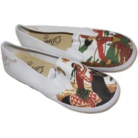 Chaussures Femme Slips on Draven samples shoes  COWBOY INDIAN SLIP ON WHITE WOMEN Blanc