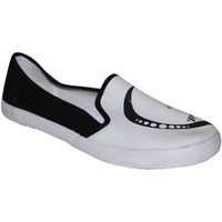 Chaussures Femme Slips on Draven samples shoes  EMMA SLIP ON BLACK WHITE WOMEN Noir et Blanc