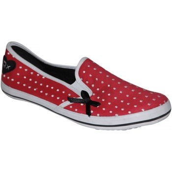 Chaussures Femme Slips on Draven samples shoes  LOVE SECRET SLIP ON RED WHITE DOT WOMEN Multicolore