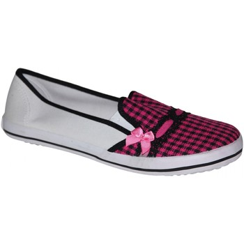 Chaussures Femme Slips on Draven samples shoes  MAD PLAID SLIP ON PINK WOMEN Rose