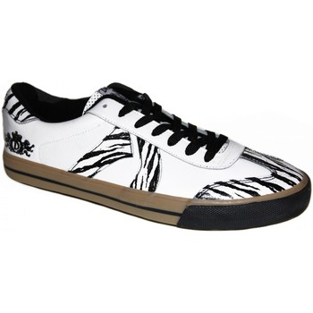 Chaussures Homme Baskets basses Draven samples shoes  SPARTA VULCANIZED WHITE BLACK MEN Blanc