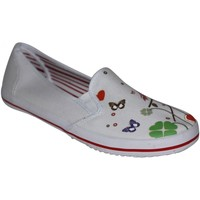 Chaussures Femme Slips on Draven samples shoes  THE HEART ROUND SLIP ON WHITE RED WOMEN Blanc