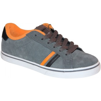 Chaussures Garçon Baskets basses Es samples shoes  LEO GREY ORANGE KIDS / ENFANTS Gris