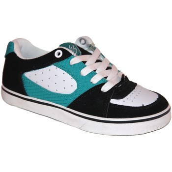 Baskets basses Es samples shoes  SQUARE ONE BLACK WHITE TURQUOISE KIDS / ENF