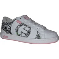 Baskets basses Etnies samples shoes  CAPITAL WHITE PINK BLACK KIDS / ENFANTS