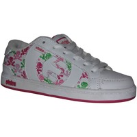 Baskets basses Etnies samples shoes  CAPITAL WHITE PINK GREEN SKULL KIDS / E