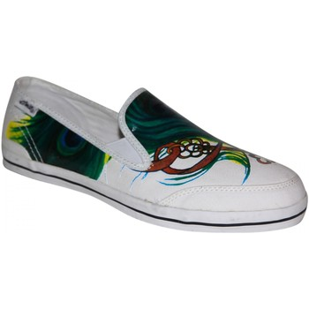 Chaussures Femme Slips on Etnies samples shoes  CHAMBOSA WHITE GREEN RED WOMEN Multicolore
