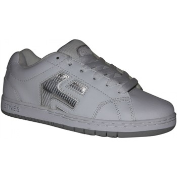 Baskets basses Etnies samples shoes  CINCH WHITE SILVER KIDS / ENFANTS