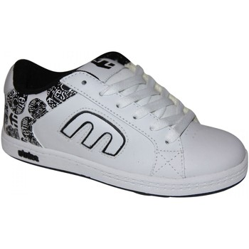 Chaussures Garçon Baskets basses Etnies samples shoes  DIGIT WHITE LIGHT GREY KIDS / ENFANTS Blanc