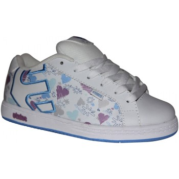 Baskets basses Etnies samples shoes  FADER WHITE BLUE PRINT KIDS / ENFANTS