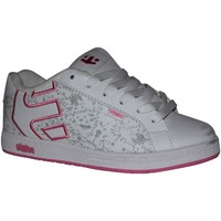 Chaussures Fille Baskets basses Etnies samples shoes  FADER WHITE WHITE PINK KIDS / ENFANTS Blanc