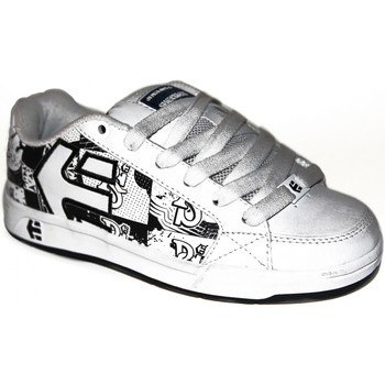 Baskets basses Etnies samples shoes  SHECKLER 3 WHITE BLACK PRINT KIDS / ENF