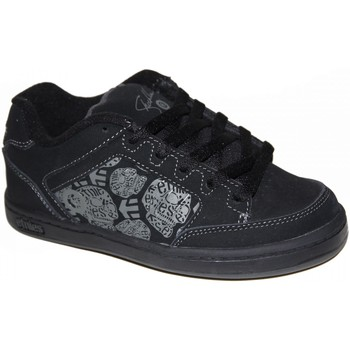 Chaussures Garçon Baskets basses Etnies samples shoes  SHECKLER BLACK GREY KIDS / ENFANTS Noir