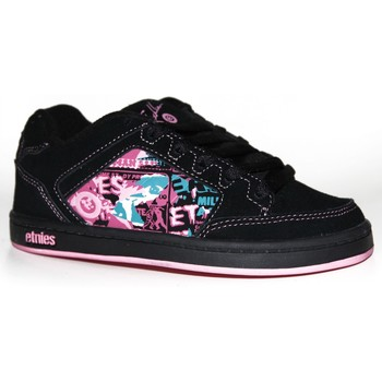 Chaussures Garçon Baskets basses Etnies samples shoes  SHECKLER BLACK PINK LIGHT PINK KIDS / E Noir