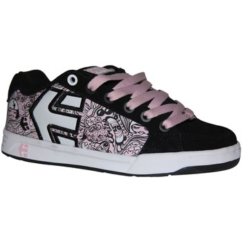 Chaussures Fille Baskets basses Etnies samples shoes  SHECKLER BLACK PINK WHITE KIDS / ENFANT Multicolore
