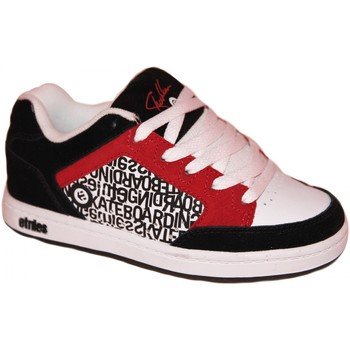 Baskets basses Etnies samples shoes  SHECKLER BLACK RED WHITE KIDS / ENFANTS
