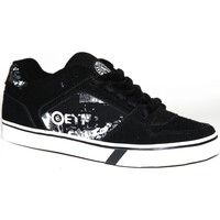 Chaussures Garçon Baskets basses Etnies samples shoes  SHECKLER BLACK WHITE GREY KIDS / ENFANT Noir et Blanc