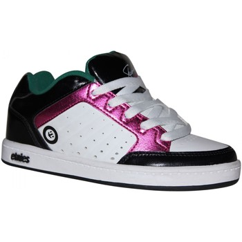 Baskets basses Etnies samples shoes  SHECKLER WHITE PINK BLACK KIDS / ENFANT