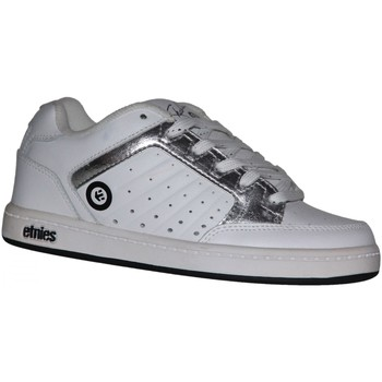 Baskets basses Etnies samples shoes  SHECKLER WHITE SILVER KIDS / ENFANTS