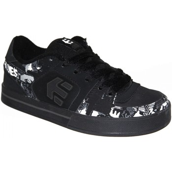 Chaussures Garçon Baskets basses Etnies samples shoes  TRADER BLACK WHITE GREY PRINT KIDS / EN Noir et Blanc
