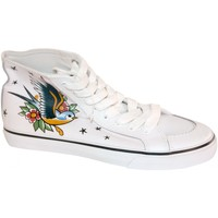 Chaussures Femme Baskets montantes Draven samples shoes HI TOP  LOVE BIRDS WHITE WOMEN Blanc