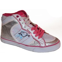 Baskets montantes Lost Angels samples shoes HI TOP  DOODLE HEART PINK WOMEN