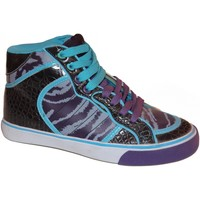 Baskets montantes Lost Angels samples shoes HI TOP  ELECTRIC ZEBRA PURPLE WOMEN