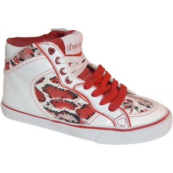 Baskets montantes Lost Angels samples shoes HI TOP  SNAKE RED WOMEN