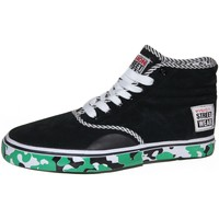 Baskets montantes Vision Street Wear samples shoes HI TOP  BRAVO BLACK GREEN ME