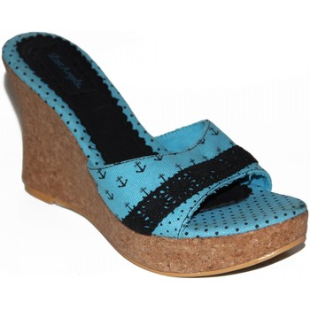Sabots Lost Angels samples shoes  ANCHOR STAR WEDGE TURQUOISE WOMEN