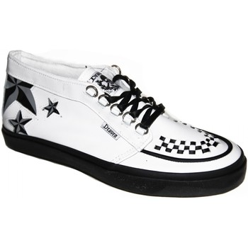 Chaussures Homme Baskets montantes Draven samples shoes MID TOP  NAUTICAL MID WHITE BLACK MEN Blanc