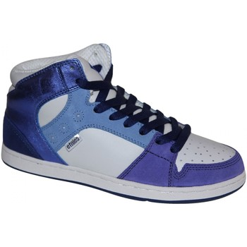 Baskets montantes Etnies samples shoes MID TOP  PERRY WHITE NAVY BLUE WOMEN