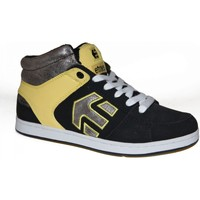Baskets montantes Etnies samples shoes MID TOP  ROOKIE BLACK YELLOW WOMEN