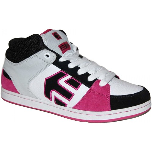 Etnies Sneakers Femme samples shoes MID TOP  ROOKIE WHITE GREY PINK WOM Multicolore - Chaussures Basket montante Femme