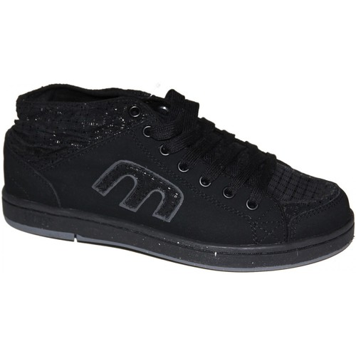 Etnies Sneakers Femme samples shoes MID TOP  THE BALLER BLACK CHARCOAL Noir - Chaussures Baskets basses Femme