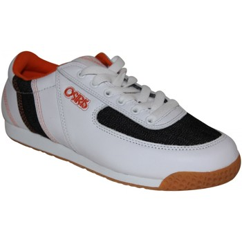 Baskets basses Osiris samples shoes  STINGER white denim orange WOMEN