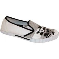 Chaussures Femme Slips on Draven samples shoes SLIP ON  BIRD BLACK WHITE WOMEN Noir et Blanc