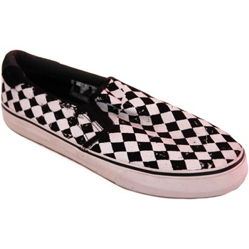 Slips on Fallen samples shoes SLIP ON  LOKER BLACK WHITE DISTRESSED DI