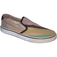Chaussures Femme Slips on Osiris samples shoes SLIP ON SCOOP BEIGE PASTEL STRIPES WOMEN Beige