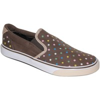 Chaussures Femme Slips on Osiris samples shoes SLIP ON SCOOP BROWN PASTEL DOTS WOMEN Marron