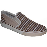 Chaussures Femme Slips on Osiris samples shoes SLIP ON  SCOOP BROWN STRIPES WOMEN Marron