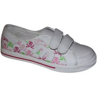 Baskets basses Etnies samples shoes VELCRO  MISSY WHITE PINK WHITE KIDS / EN
